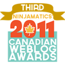 2011 Canadian Weblog Awards Winner - Third